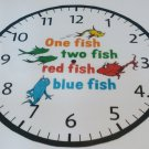 1 FISH 2 FISH RED FISH BLUE FISH CLOCK