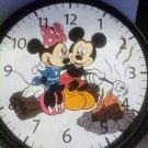 """MINNIE & MICKEY CAMPFIRE WALL CLOCK 9""""RV-"""