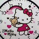 """WALL CLOCK-HELLO KITTY-9"""" WALL CLOCK-"""