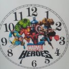 "WALL CLOCK 9"" ""MARVEL HEROES"" -BATTERY OPERATED"