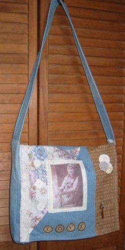 Altered Art Messenger Bag EC