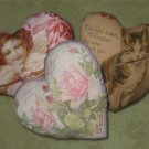 Printable Vintage Valentine Heart Pillows EC