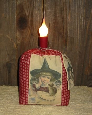 Reproduction Witch Postcard Lamp EC