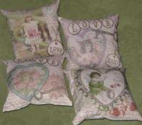 Valentine Altered Art Sachet Pillows EC