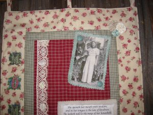 Altered Art Mother Wall Quilt Picture Conversion  EC
