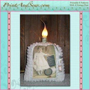 Vintage Sewing Lamp E-Pattern EC