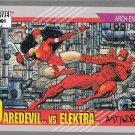 MARVEL UNIVERSE 1991 #95 SIGNED ARCH-ENEMIES: DAREDEVIL vs ELEKTRA #95 SIGNED BY ART ADAMS