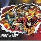 MARVEL UNIVERSE 1992 #77 MARVEL TEAM-UPS WOLVERINE & CABLE
