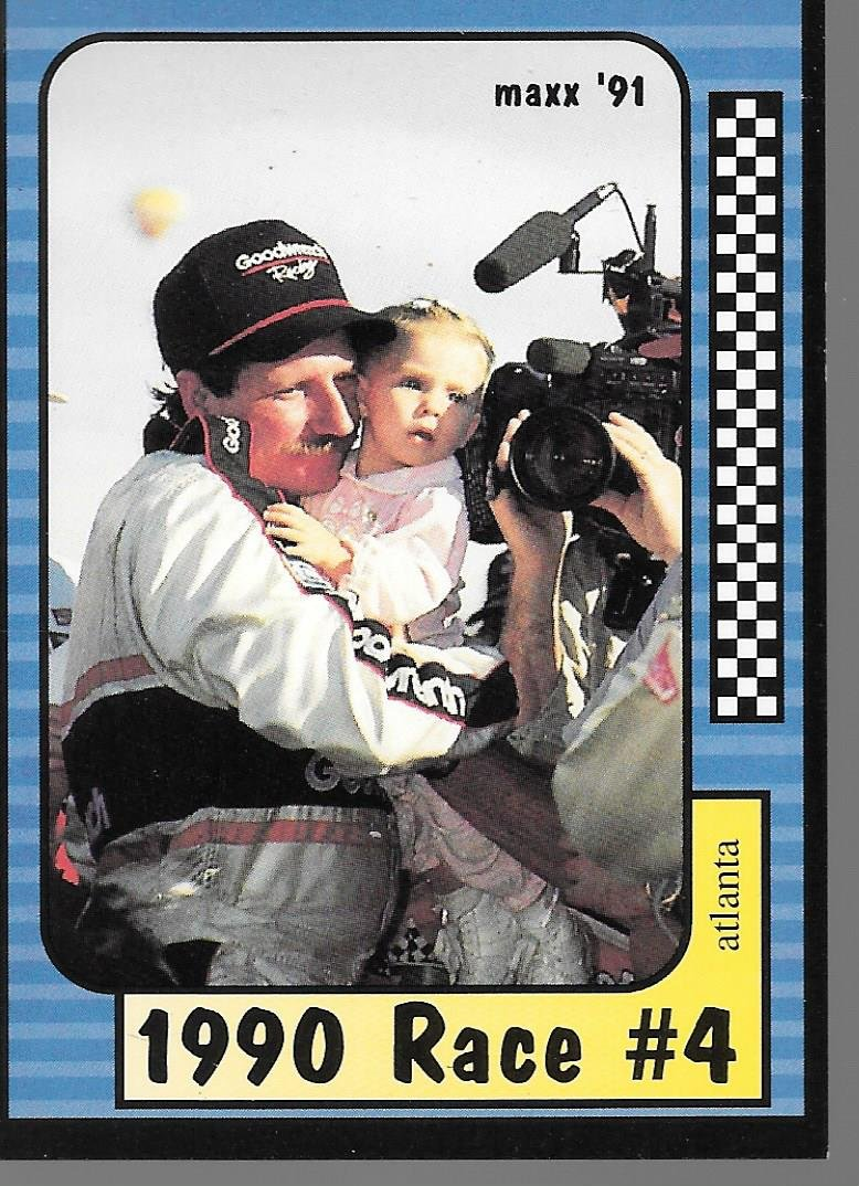 TRADING CARD MAXX 1991 #173 1990 RACE #4 ATLANTA