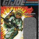 G.I. JOE 25TH ANNIVERSARY CARD BACK SNOW JOB