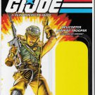 G.I. JOE CARD BACK SGT. AIRBORNE