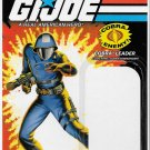 G.I. JOE CARD BACK COBRA LEADER COBRA COMMANDER
