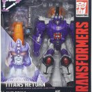 TRANSFORMERS GENERATIONS Titans Return Nucleon and Galvatron (LOOSE)