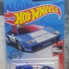 2019 Hot Wheels Lamborghini Countach Police Car 142/250 - HW RESCUE 2/10 BLUE MOC