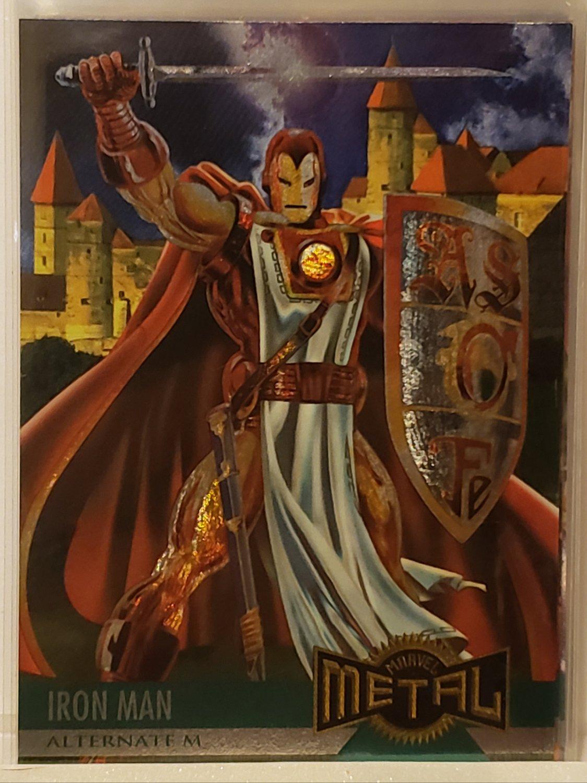 1995 MARVEL METAL TRADING CARDS IRON MAN #130