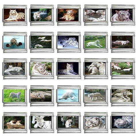 Italian Charms 25 pack 9mm White Tiger  13452662