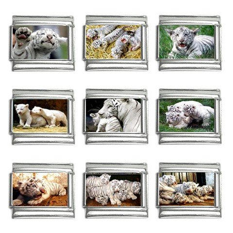 Italian Charms 9 pack 9mm White Tiger Cubs 13452711
