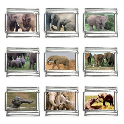 Italian Charm 9 pack 9mm Elephants 13320161