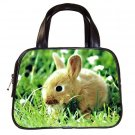 Black Designer 100% Leather Baby Bunny Rabbit  Handbag Purse #19375424