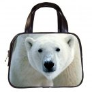 Black Designer 100% Leather POLAR BEAR Handbag Purse #19375485
