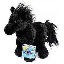Webkinz Black Stallion (Friesian) New Plush Pet with Unused Secret Code
