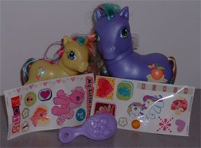 My Little Pony Purple Peach Suprise and Tea Lilly