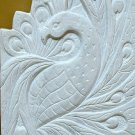Peacock carving marble stone display