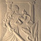 Marble wall panel stone carving