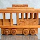 San Francisco trolley, wood toy, 1984 vintage