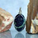 Dark blue mineral Vivianite necklace