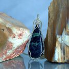 The stone of peace blue mineral Vivianite pendant