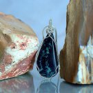 Natural stone Vivianite pendant blue mineral gemstone necklace