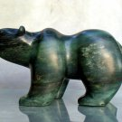 Large stone bear soapstone sculpture