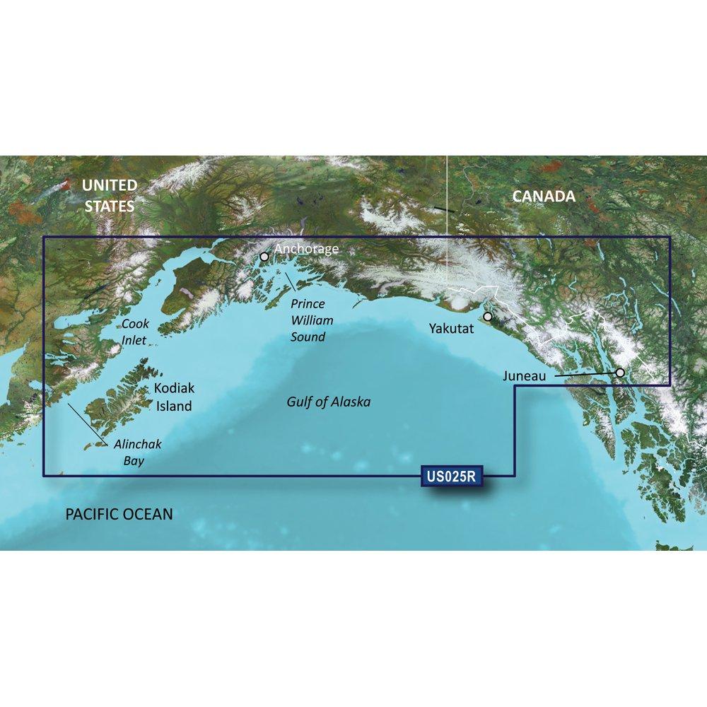 Garmin Bluechart G2 Vision Anchorage to Juneau Chart - VUS025R