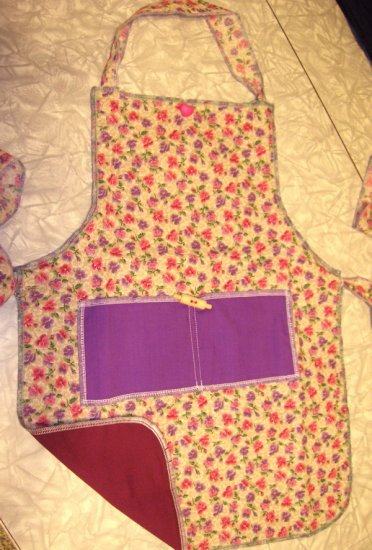 Floral Cotton Print Kid-sized Apron