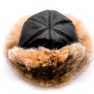 winter fur hat, Fox fur malachai