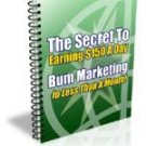 Bum Marketing - Make Money With Internet Marketing