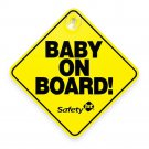 Safety 1st Baby (Child) On Board Sign  Suction cup  Brand New (Lot of 2 )