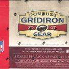 2007 Donruss Gridiron Gear Football Hobby 16 Box Master Case