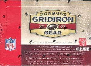 2007 Donruss Gridiron Gear Football Hobby Box
