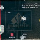 2007 Upper Deck SP Chirography Football Hobby Box/Tin