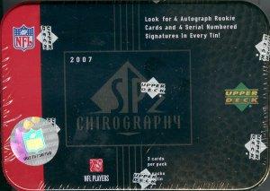 2007 Upper Deck SP Chirography Football Hobby Box/Tin