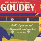 2007 Goudey Baseball Hobby Box (Upper Deck)