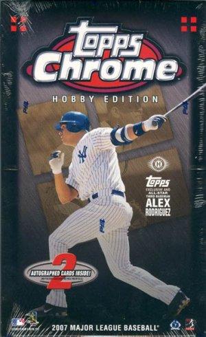 2007 Topps Chrome Baseball Hobby Box