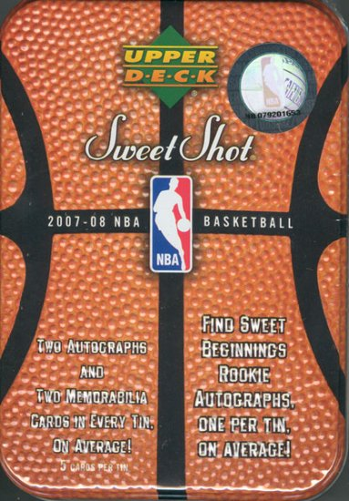 2007/08 Upper Deck Sweet Shot Basketball Hobby Box