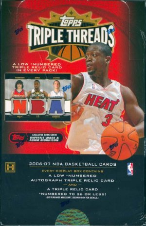 2006/07 Topps Triple Threads Basketball Hobby Box