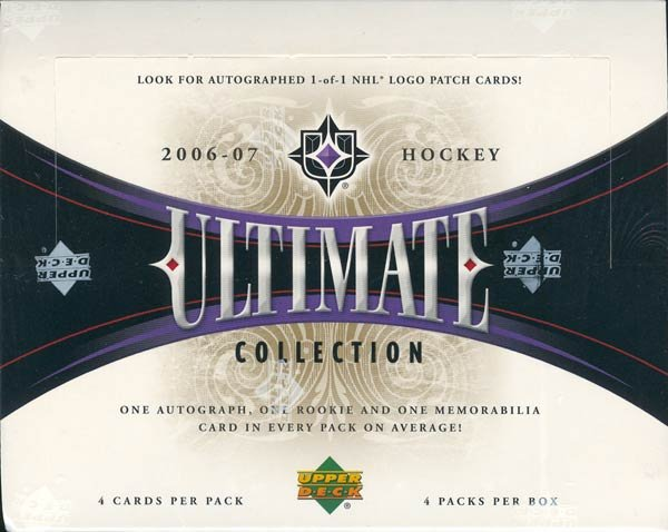 2006/07 Upper Deck Ultimate Collection Hockey Hobby Box