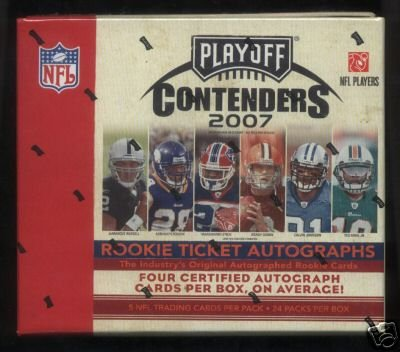 2007 Playoff Contenders Football Hobby 12 Box Case