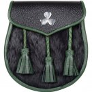 New Handmade Scottish Kilt Leather Sporran and Belt For St. Patrick Day Parade