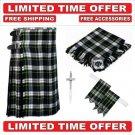 32 size dress gordon  Men's Scottish Traditional Tartan Kilt and Accessories Package